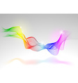 Abstract Rainbow Lines vector image vector image