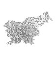 abstract schematic map of slovenia from the black vector image vector image