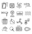 airflow line icon set vector image vector image
