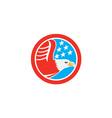 American Bald Eagle Stars Circle Retro vector image vector image