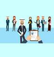 arab curriculum vitae recruitment candidate job vector image vector image