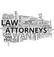 attorneys text word cloud concept vector image vector image