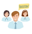 avatars teenage students in form vector image