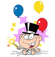Baby new years cartoon vector image vector image