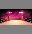 background of boxing ring illuminated vector image