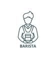 barista line icon barista outline sign vector image vector image