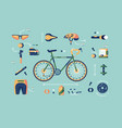bicycle equipment for cycling set vector image