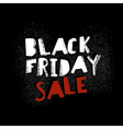 Black Friday Graffiti Typography on Black Wall vector image vector image