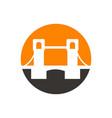 bridge logo design vector image