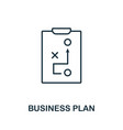 business plan outline icon thin style design from vector image