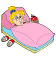 cartoon girl patient vector image