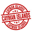 cayman islands red round grunge stamp vector image vector image
