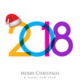 christmas background happy new year greeting card vector image vector image