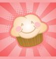 cupcake muffin cartoon character vector image vector image