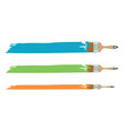 different size paint brushes vector image vector image