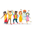 diverse group of multicultural happy smiling vector image vector image