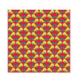doodle yellow bird pattern seamless vector image vector image