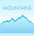 flat landscape background vector image vector image