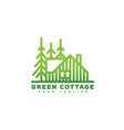 green cottage logo vector image vector image