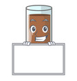 grinning with board pouring chocolate milk from vector image vector image