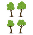 group stylized abstract trees vector image