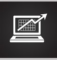 growth arrow icon on black background for graphic vector image