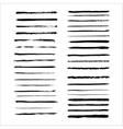 Grunge brushes set vector image