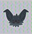 halloween bat smiley head got blushed vector image vector image
