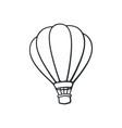 hand drawn doodle hot air balloon vector image vector image