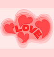 hearts background design for valentines day vector image