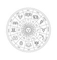horoscope circle with zodiac signs vector image vector image