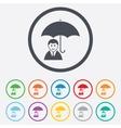 Human insurance sign icon Person symbol vector image