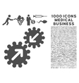 integration icon with 1000 medical business vector image vector image
