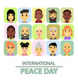 international day of peace the world starts with vector image vector image