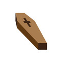 isolated coffin icon vector image