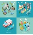 isometric hospital interior doctor appointment