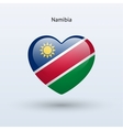 Love Namibia symbol Heart flag icon vector image vector image