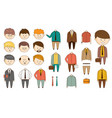 man character constructor funny faces with vector image