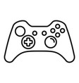 modern gamepad icon outline style vector image vector image