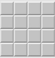 mosaic of beveled tiles basic colorless tileable vector image vector image