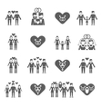 Non-traditional family icons set black vector image