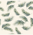 palm leaves seamless pattern beige background vector image vector image