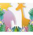 paper art animals vector image