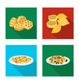 pasta and carbohydrate icon vector image
