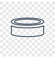 puck concept linear icon isolated on transparent vector image