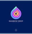 rainbow drop icon logo laundry dry clean helix vector image vector image