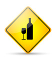 Restaurant road sign vector image vector image