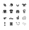 Rugby Icons Set vector image