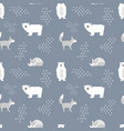 scandinavian seamless pattern bear and fox vector image vector image