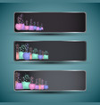 science banners set vector image vector image